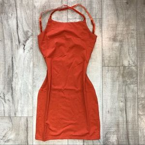 Fashion Nova Dresses - NEW | Rust Bodycon Open Back Mini Dress